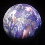 Screen Goo coated Earth Ball with projection